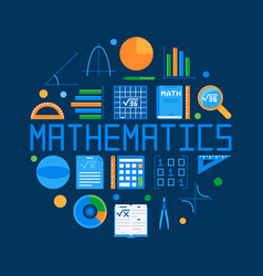 Mathematics circular flat vector