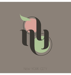 New York City hand lettering vector image
