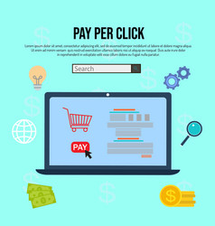 pay per click internet advertising concept vector image