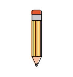 pencil with eraser icon image vector image