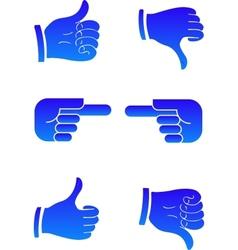 Pointers hands vector