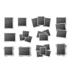 Realistic blank snapshot frames set vector