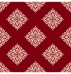 red geometric seamless design vector image