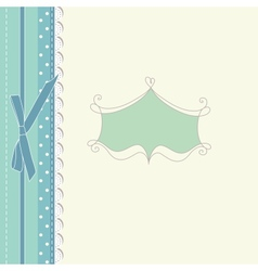 Retro baby greeting card vintage vector image