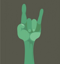 rock n roll gesture vector image