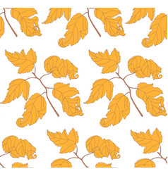 seamless pattern with autumn branches vector image