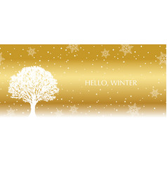 seamless winter background with a tree vector image