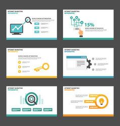 SEO Search engine optimization flat design element vector