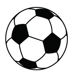 soccer ball royalty free vector image vectorstock rh vectorstock com vector soccer ball free download vector soccer ball free