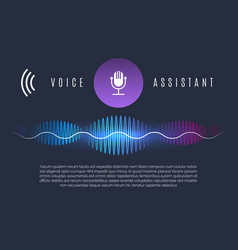 soundwaves recognition assistant vector image