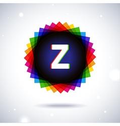 Spectrum logo icon letter z vector