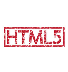 stamp text html5 vector image