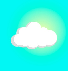 Sun breaks through the cloud vector