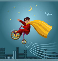 super hero boy vector image