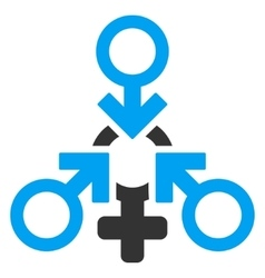 Triple Penetration Sex Flat Icon vector image