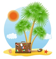 tropical palm tree 05 vector image vector image