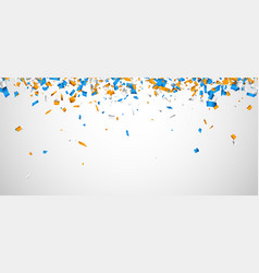 White background with colorful confetti vector