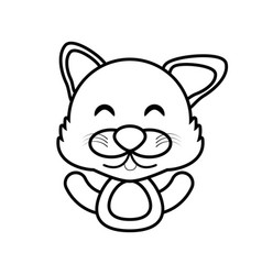 wolf animal toy outline vector image