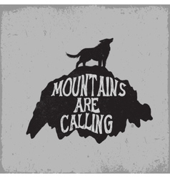 Wolf howling on mountain vector image