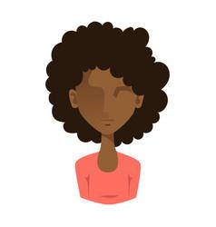 Woman portrait face icon web avatar flat style vector