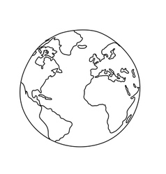 World Drawing vector image