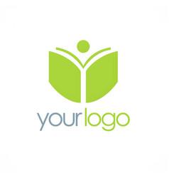 Book student school logo vector