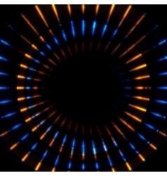 Bright glowing beams stripes vector image vector image