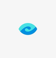 Eye wave logo design swirl shutter media vision vector