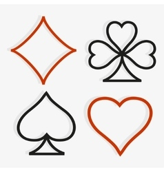 Playing card symbols in modern style vector image