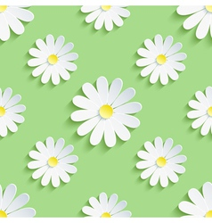 Spring green background seamless pattern with vector image vector image