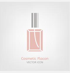 cosmetic flacon icon vector image
