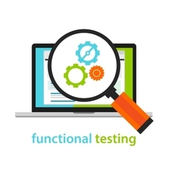 functional testing software development process vector image vector image