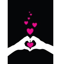hands heart vector image vector image