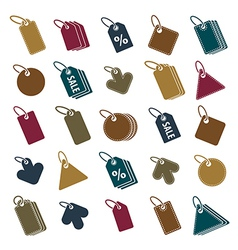 Tag icons isolated on white background set retail vector image