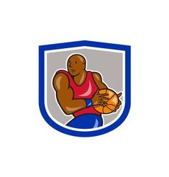 Basketball Player Holding Ball Cartoon vector image vector image