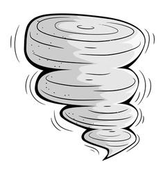 Cartoon tornado eps10 vector image