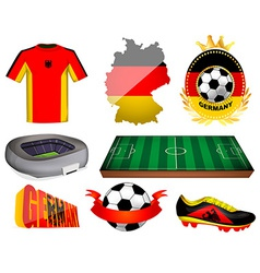 Germany soccer vector image