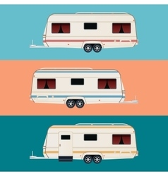 Set of trailers vector image vector image