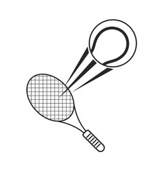 tennis ball racket sport icon thin line vector image vector image