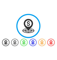 financial crosshair rounded icon vector image