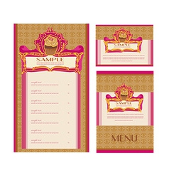 menu coffee shop and restaurant set vector image vector image
