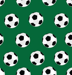 Soccer ball pattern vector image vector image