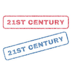 21st century textile stamps vector