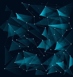 abstract blue color triangles and low polygon vector image