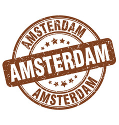 Amsterdam stamp vector