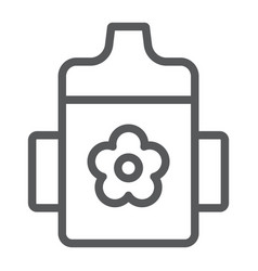 baby cup line icon child and bottle vector image