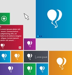 Balloon icon sign buttons modern interface website vector