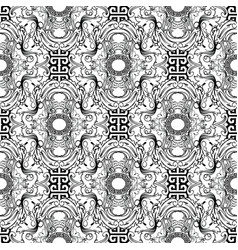 baroque seamless pattern greek key meanders vector image