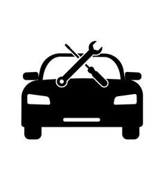 car vehicle automobile repair servicing vector image
