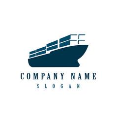 cargo ship design vector image